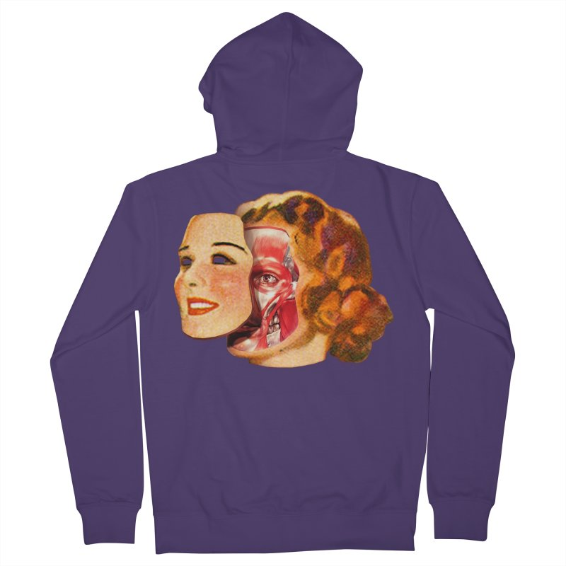 Lady Muscleface Women's French Terry Zip-Up Hoody by Tom Burns