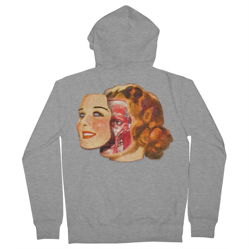 Lady Muscleface Men's French Terry Zip-Up Hoody by Tom Burns
