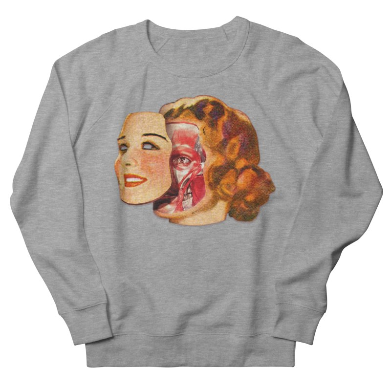 Lady Muscleface Women's French Terry Sweatshirt by Tom Burns
