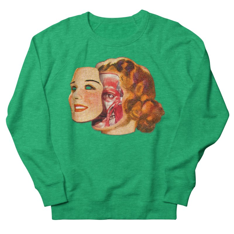 Lady Muscleface Men's French Terry Sweatshirt by Tom Burns