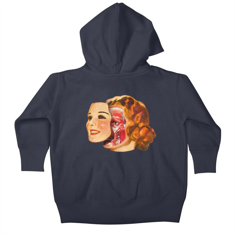 Lady Muscleface Kids Baby Zip-Up Hoody by Tom Burns