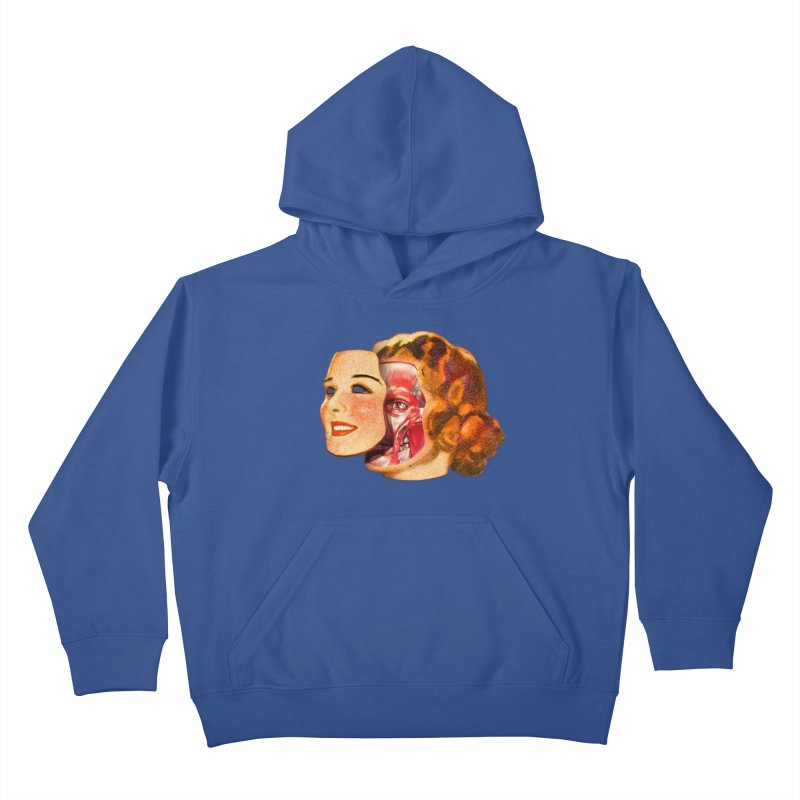 Lady Muscleface Kids Pullover Hoody by Tom Burns