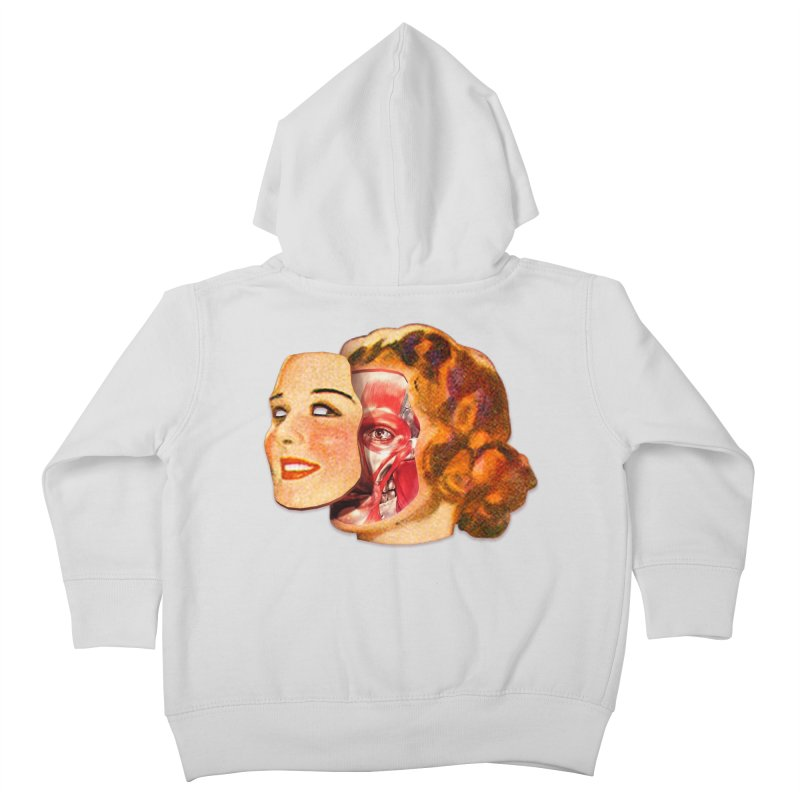 Lady Muscleface Kids Toddler Zip-Up Hoody by Tom Burns