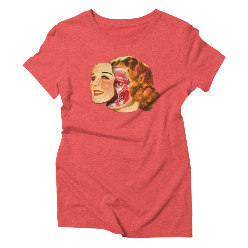 Lady Muscleface Women's Triblend T-Shirt by Tom Burns