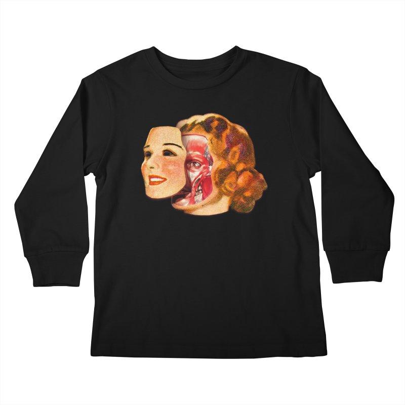 Lady Muscleface Kids Longsleeve T-Shirt by Tom Burns