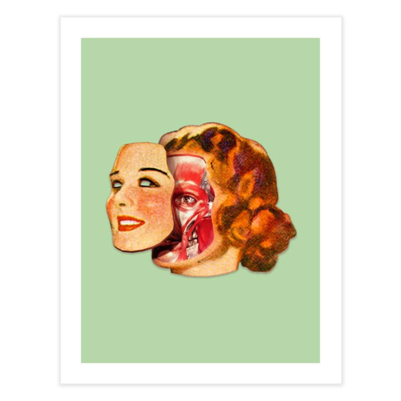 Lady Muscleface Home Fine Art Print by Tom Burns