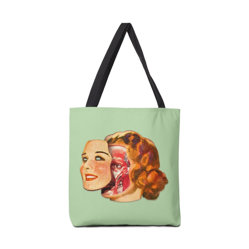 Lady Muscleface Accessories Tote Bag Bag by Tom Burns