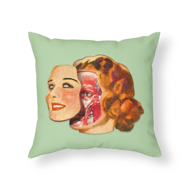 Lady Muscleface Home Throw Pillow by Tom Burns