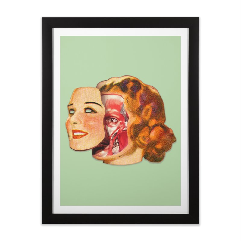 Lady Muscleface Home Framed Fine Art Print by Tom Burns