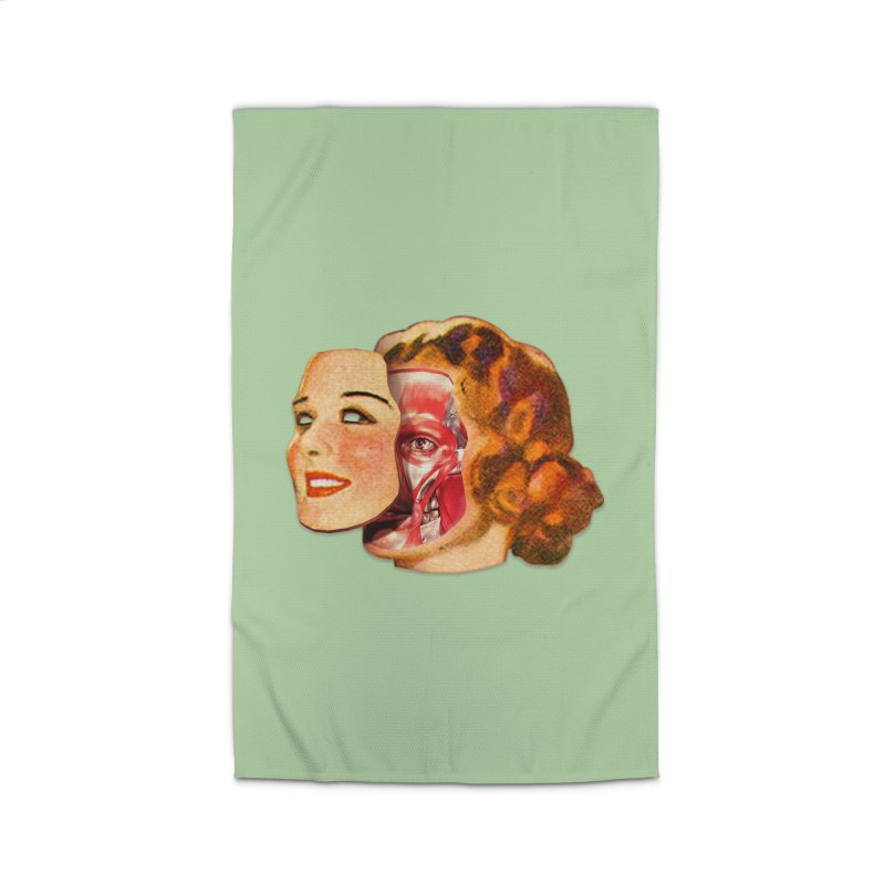 Lady Muscleface Home Rug by Tom Burns