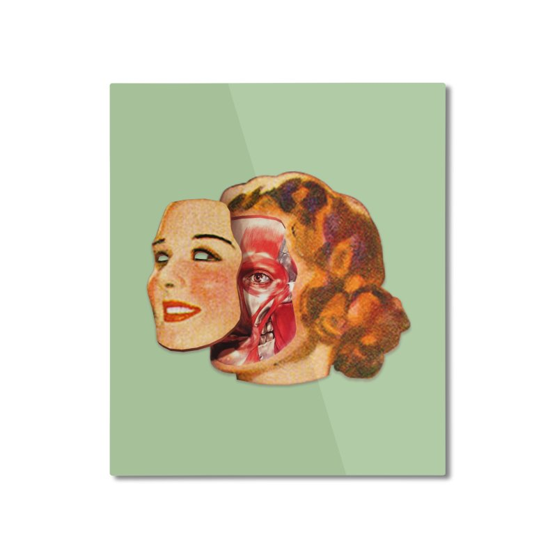 Lady Muscleface Home Mounted Aluminum Print by Tom Burns