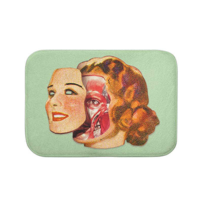 Lady Muscleface Home Bath Mat by Tom Burns