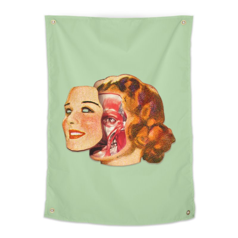 Lady Muscleface Home Tapestry by Tom Burns