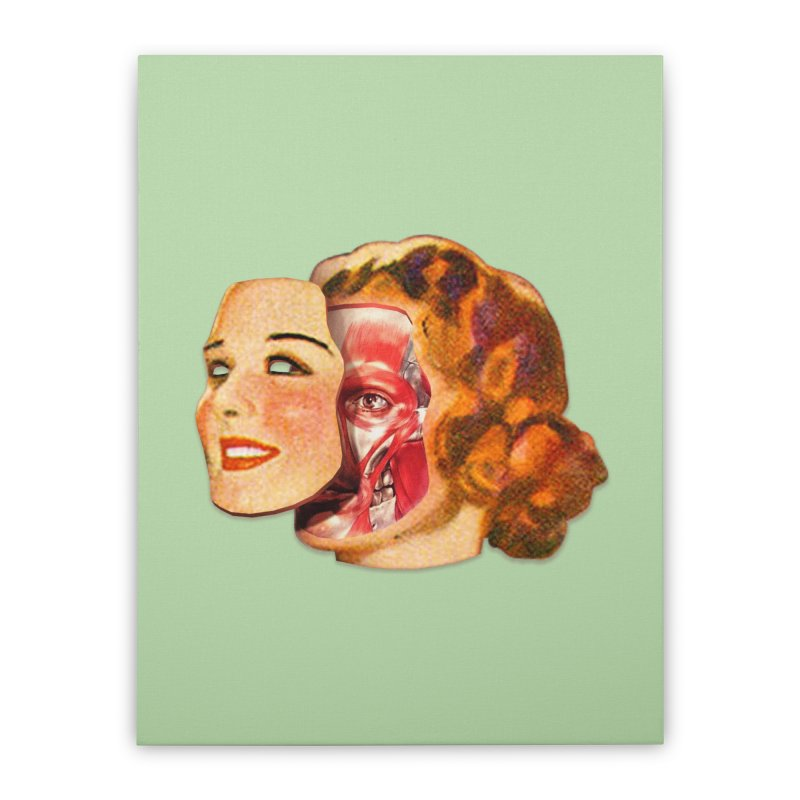 Lady Muscleface Home Stretched Canvas by Tom Burns