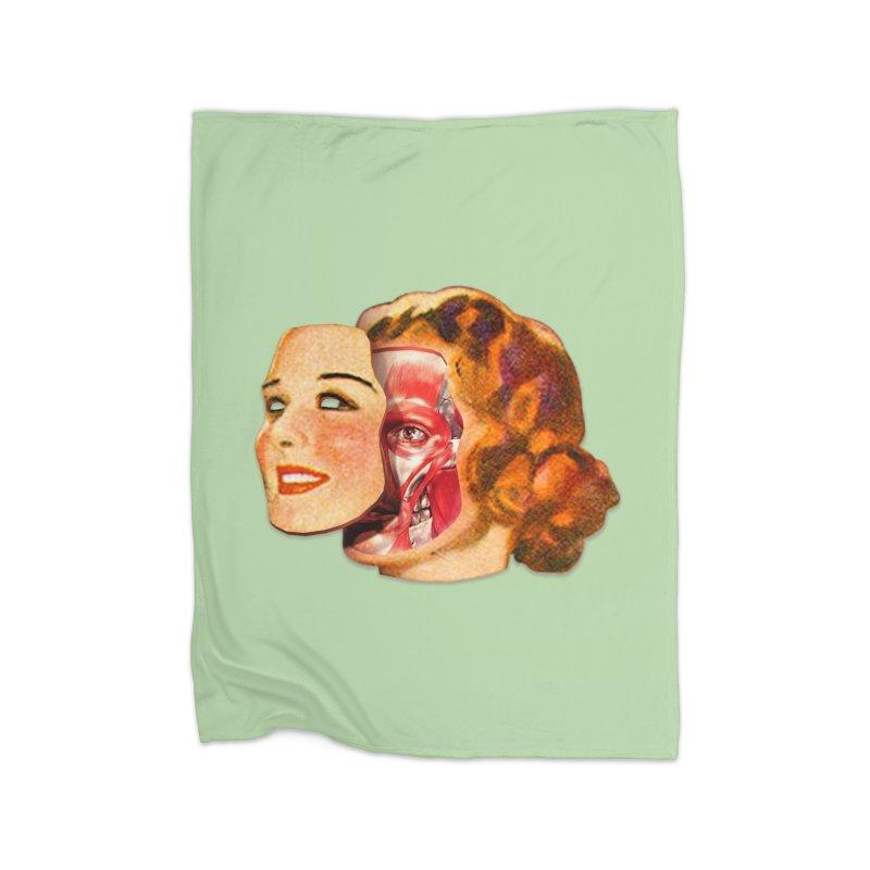 Lady Muscleface Home Fleece Blanket Blanket by Tom Burns