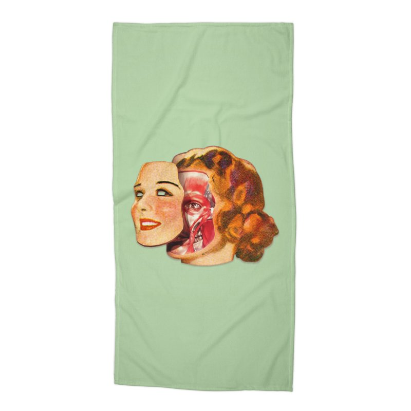 Lady Muscleface Accessories Beach Towel by Tom Burns