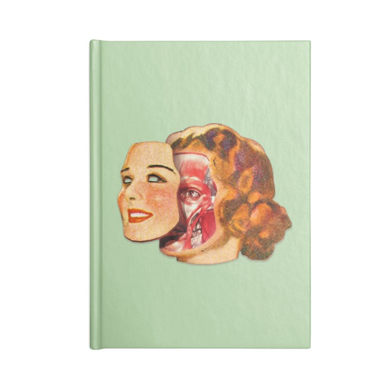 Lady Muscleface Accessories Blank Journal Notebook by Tom Burns
