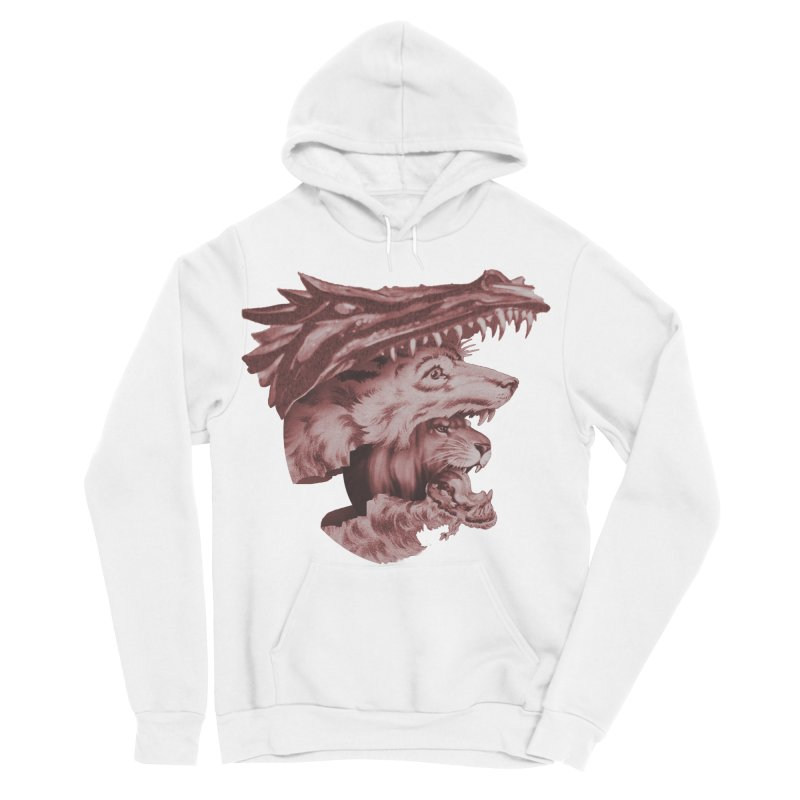 Lions Dragons Wolves Oh My Women's Sponge Fleece Pullover Hoody by Tom Burns