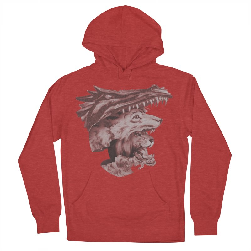 Lions Dragons Wolves Oh My Women's French Terry Pullover Hoody by Tom Burns
