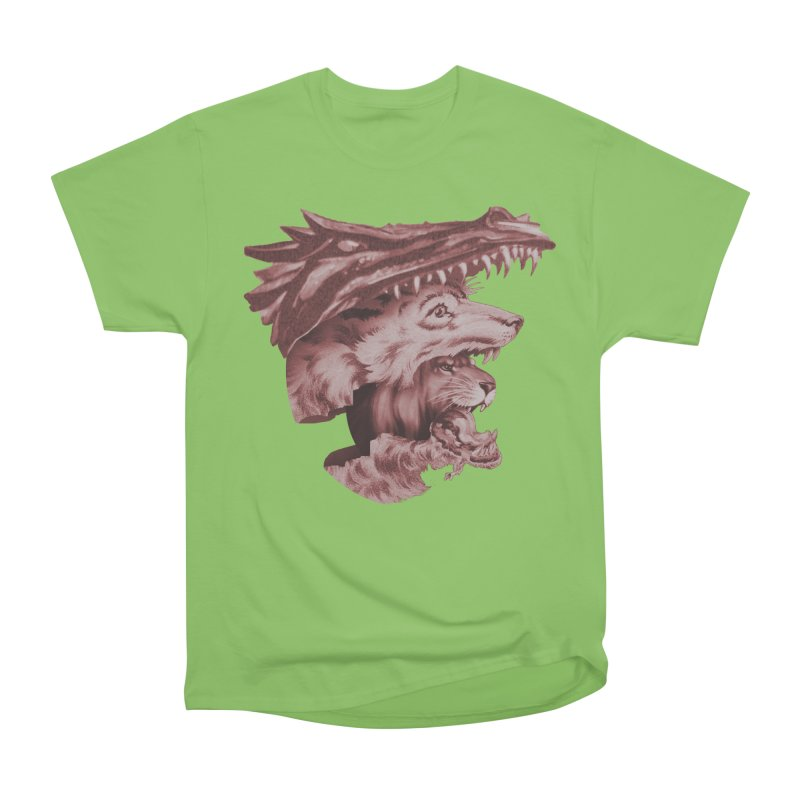 Lions Dragons Wolves Oh My Women's Heavyweight Unisex T-Shirt by Tom Burns