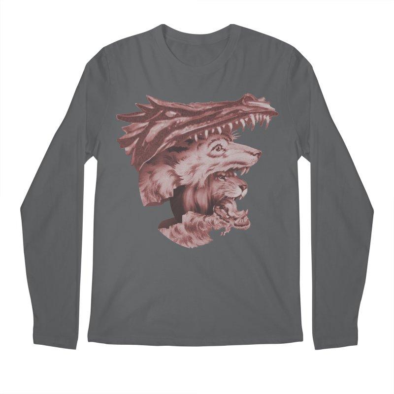 Lions Dragons Wolves Oh My Men's Regular Longsleeve T-Shirt by Tom Burns