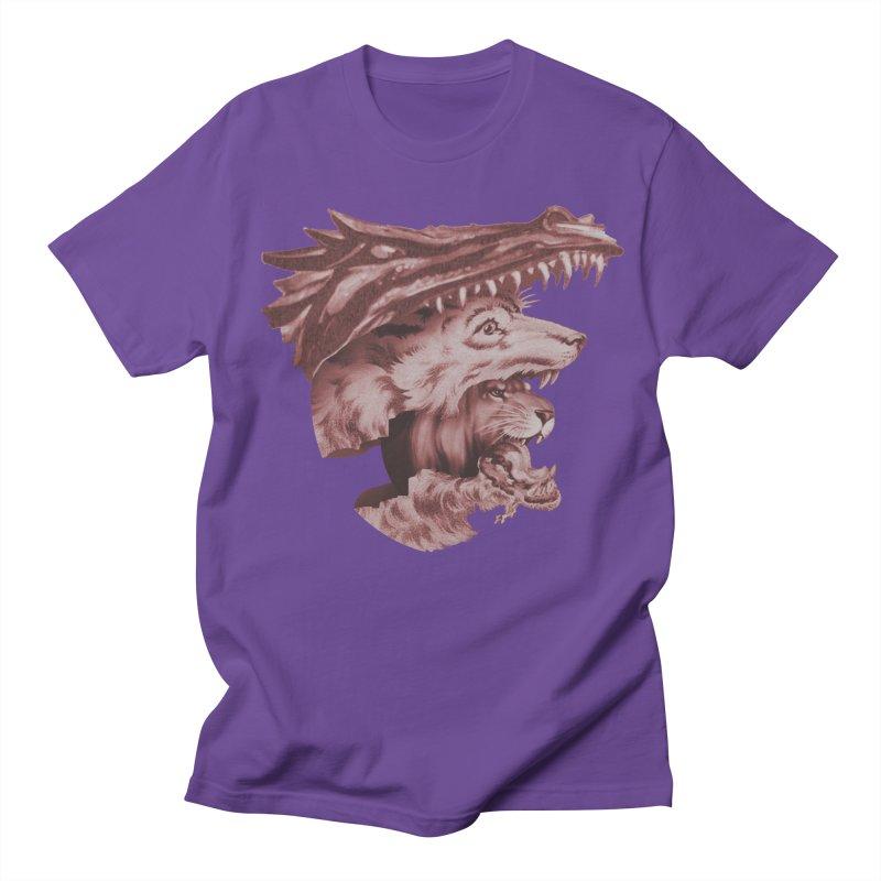 Lions Dragons Wolves Oh My Men's Regular T-Shirt by Tom Burns