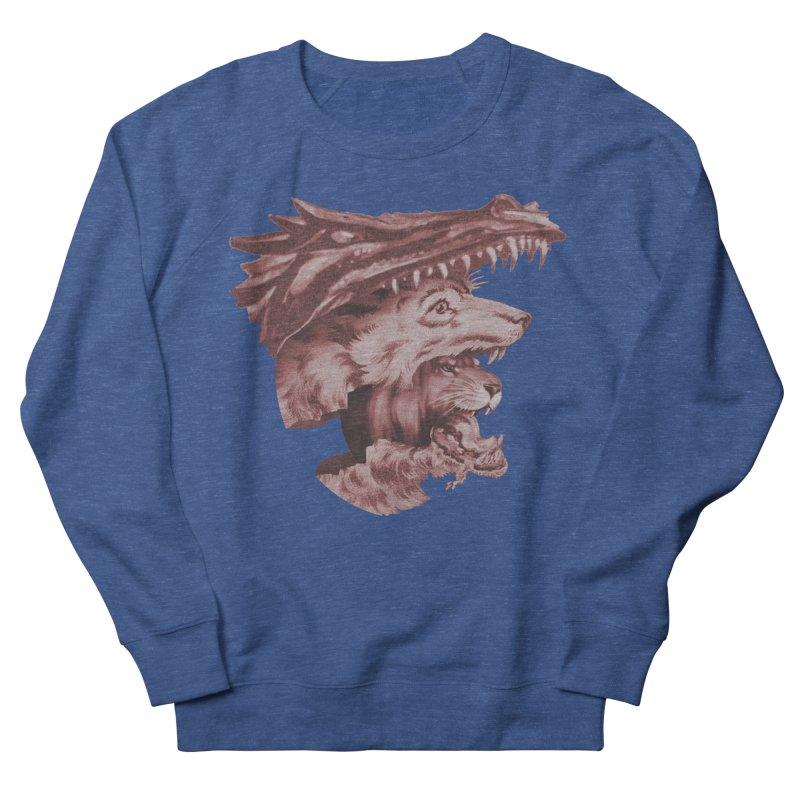 Lions Dragons Wolves Oh My Men's French Terry Sweatshirt by Tom Burns