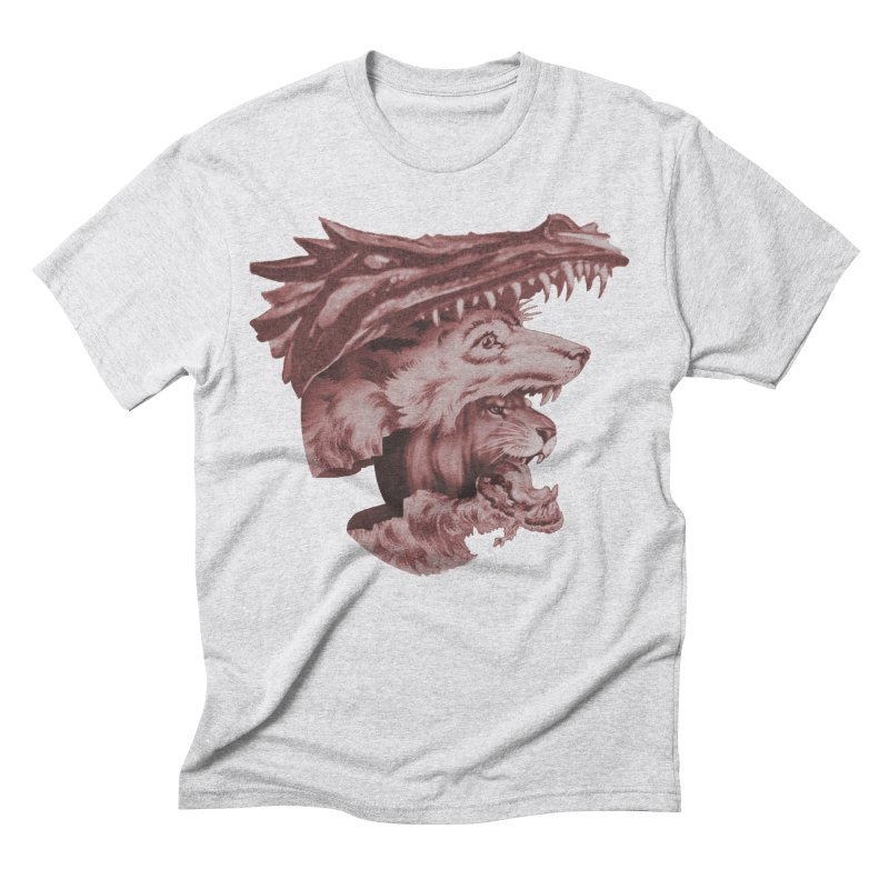 Lions Dragons Wolves Oh My Men's Triblend T-Shirt by Tom Burns