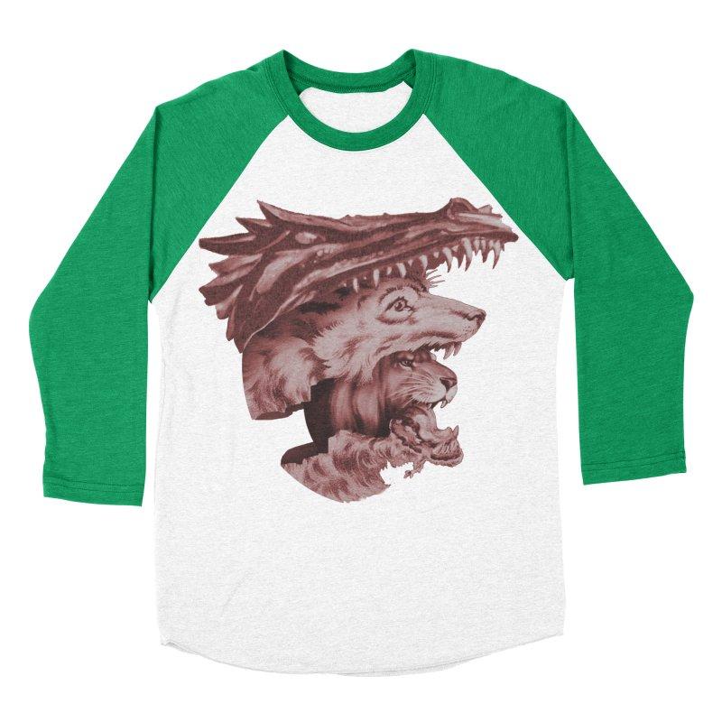 Lions Dragons Wolves Oh My Women's Baseball Triblend Longsleeve T-Shirt by Tom Burns