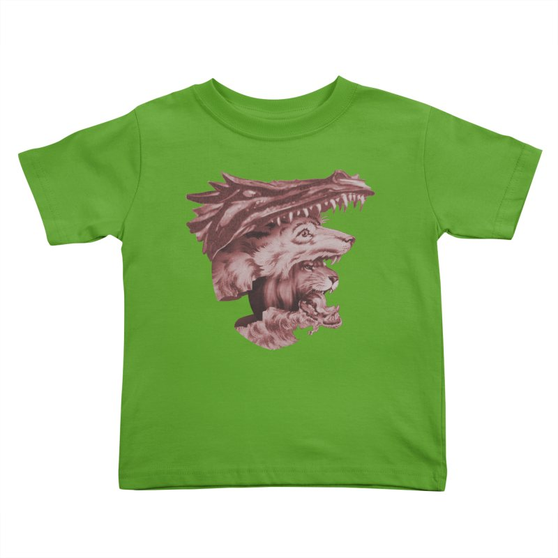 Lions Dragons Wolves Oh My Kids Toddler T-Shirt by Tom Burns