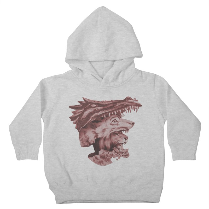 Lions Dragons Wolves Oh My Kids Toddler Pullover Hoody by Tom Burns