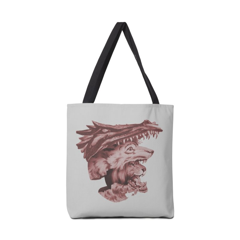 Lions Dragons Wolves Oh My Accessories Tote Bag Bag by Tom Burns