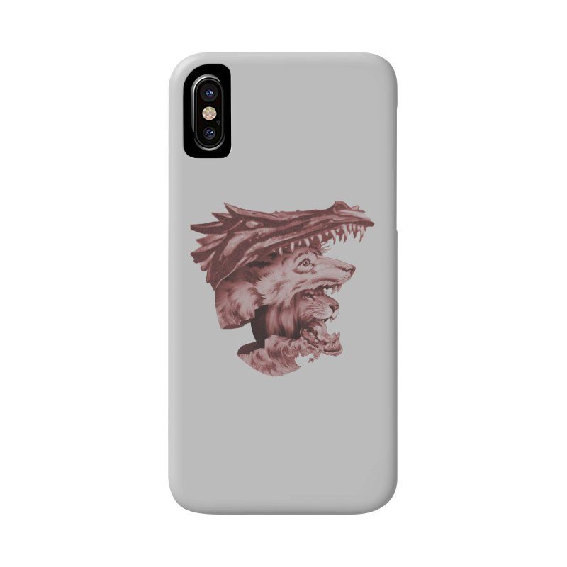 Lions Dragons Wolves Oh My Accessories Phone Case by Tom Burns
