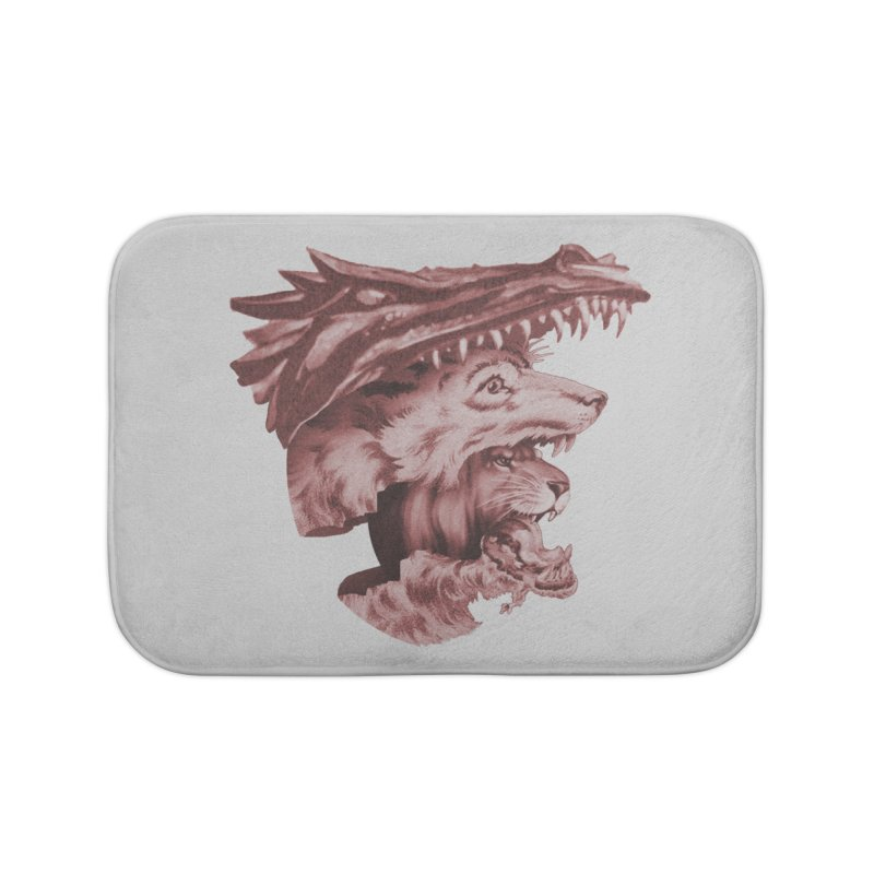 Lions Dragons Wolves Oh My Home Bath Mat by Tom Burns