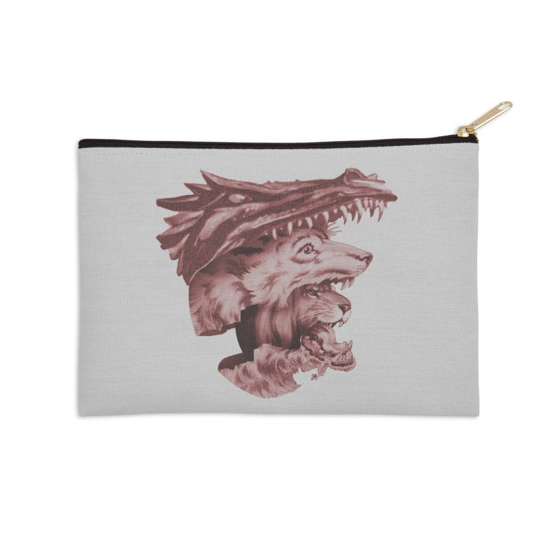 Lions Dragons Wolves Oh My Accessories Zip Pouch by Tom Burns