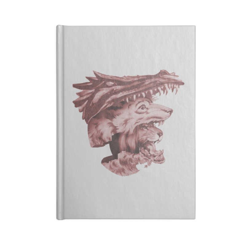 Lions Dragons Wolves Oh My Accessories Blank Journal Notebook by Tom Burns