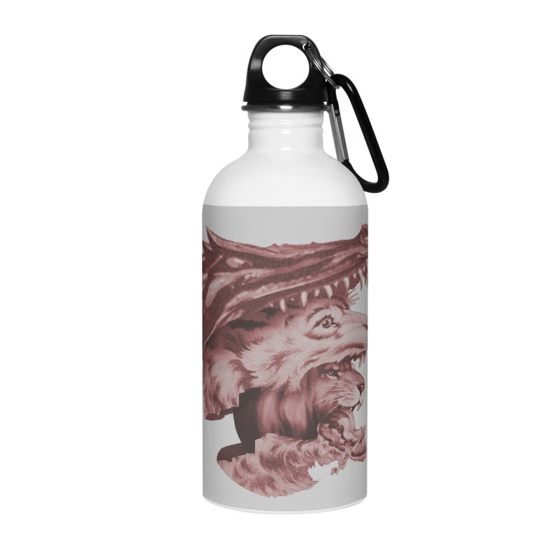 Lions Dragons Wolves Oh My Accessories Water Bottle by Tom Burns