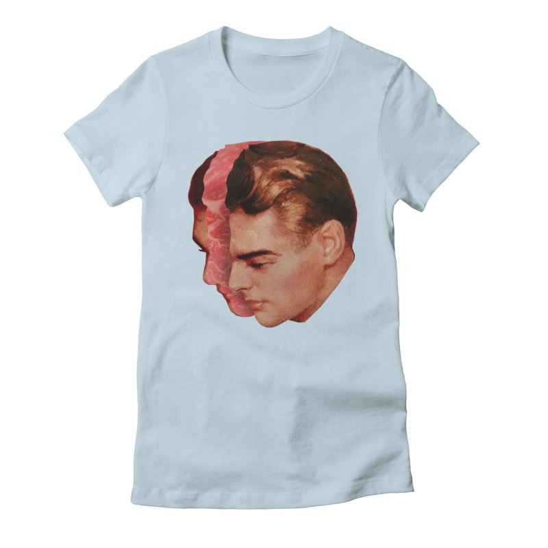 Meat Head Women's Fitted T-Shirt by Tom Burns