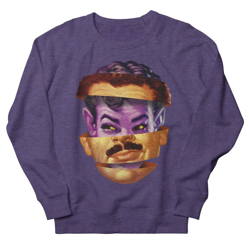 Purple Man Women's French Terry Sweatshirt by Tom Burns