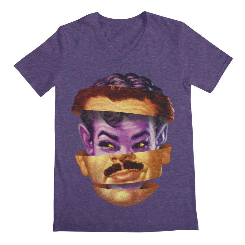 Purple Man Men's Regular V-Neck by Tom Burns