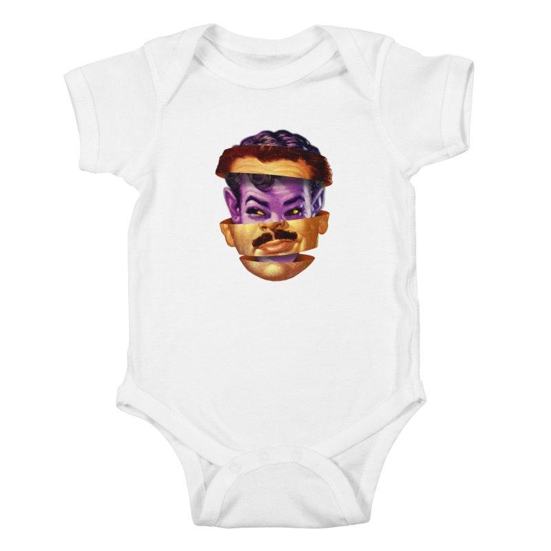 Purple Man Kids Baby Bodysuit by Tom Burns