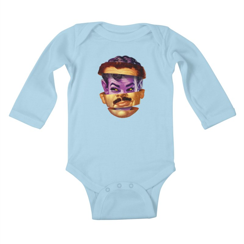 Purple Man Kids Baby Longsleeve Bodysuit by Tom Burns