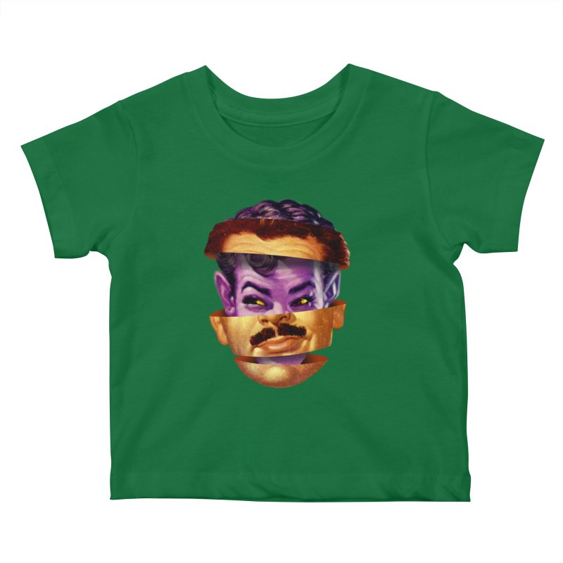 Purple Man Kids Baby T-Shirt by Tom Burns