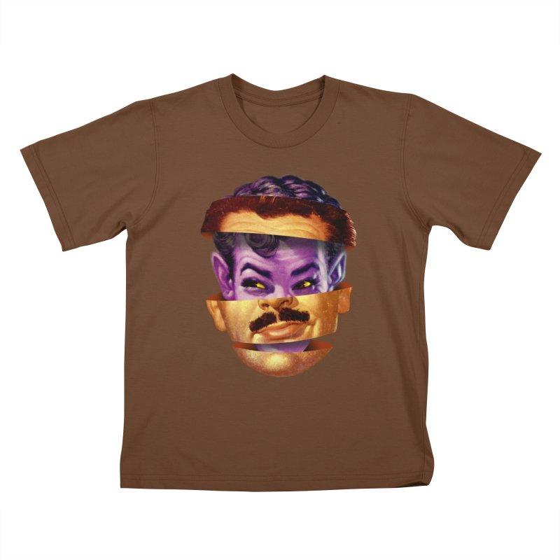 Purple Man Kids T-Shirt by Tom Burns
