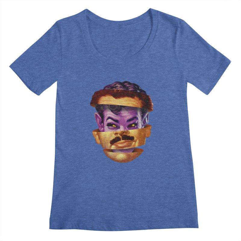 Purple Man Women's Regular Scoop Neck by Tom Burns
