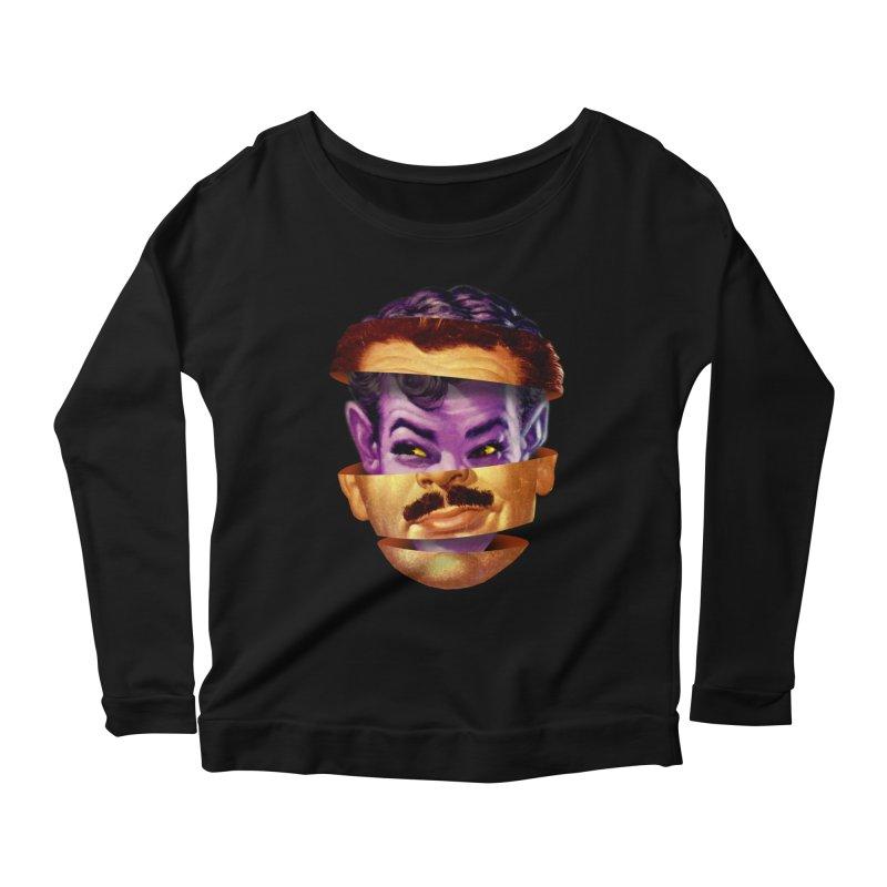 Purple Man Women's Scoop Neck Longsleeve T-Shirt by Tom Burns