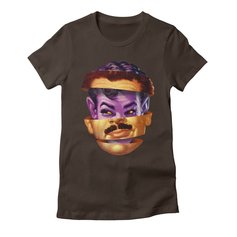 Purple Man Women's Fitted T-Shirt by Tom Burns