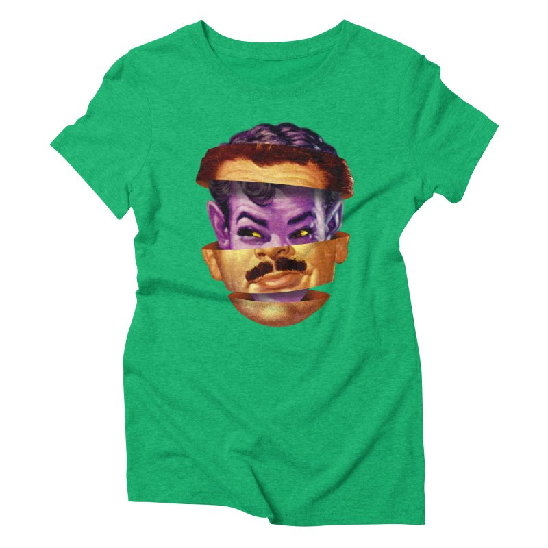 Purple Man Women's Triblend T-Shirt by Tom Burns