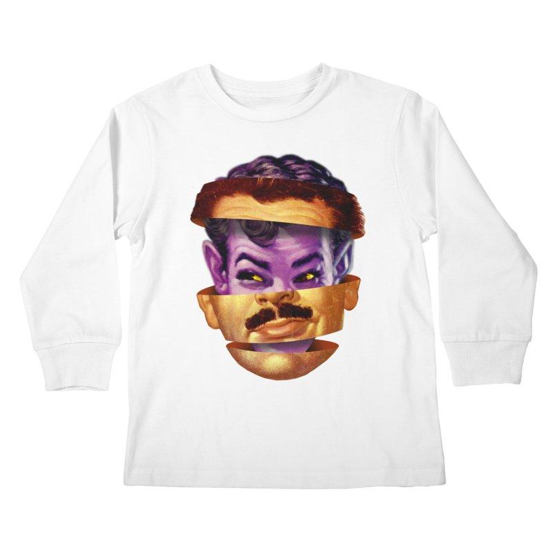 Purple Man Kids Longsleeve T-Shirt by Tom Burns
