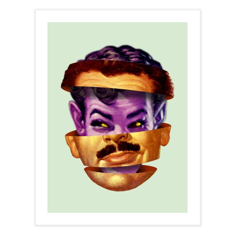 Purple Man Home Fine Art Print by Tom Burns